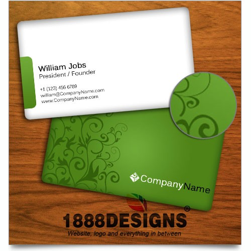 Business cards creative green business card reheart Gallery