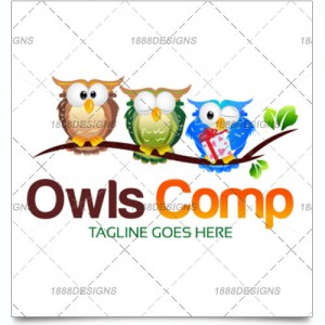 THREE OWLS BUSINESS LOGO