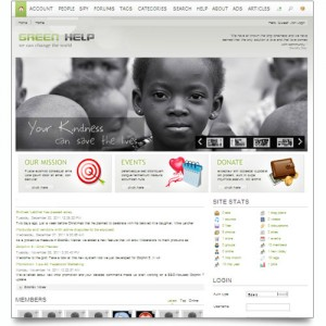 GREEN HELP CHARITY ONLINE COMMUNITY SITE